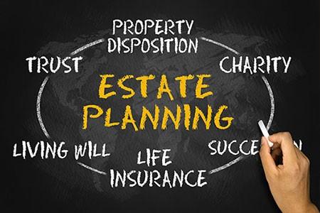 estate planning concept on blackboard